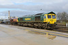 18 February 2014 :: Stabled at Didcot is 66599 with 66047 in the background
