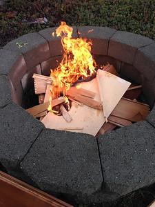 We burned a dresser! Whoohoo!