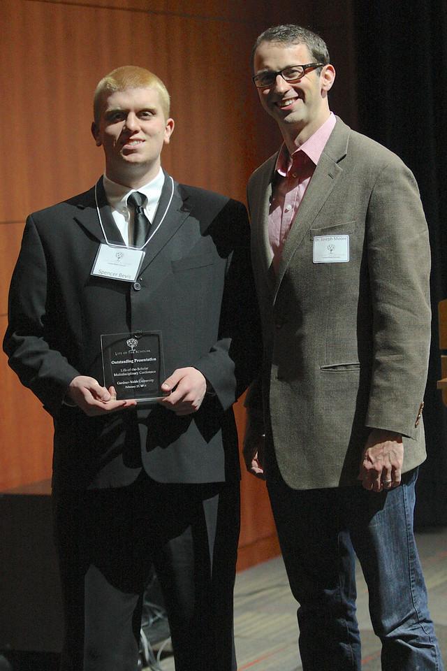 Spenver Bevis with mentor Dr. Joseph Moore
