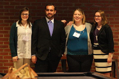Literature presenters, (left to right) Brittney Clark, George Millar, Molly Law, and Allison Parrish.