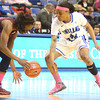 SPT021414ISUWBB franklin Instant impact: Indiana State junior forward Travecia Franklin swats the ball away from Southern Illinois guard Mercedes Griffin shortly after Franklin entered the game of the bench.