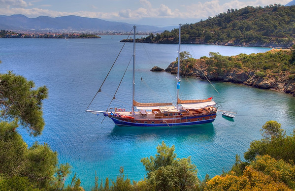 The Turquoise Coast - A Gulet Near Fethiye, Turkey