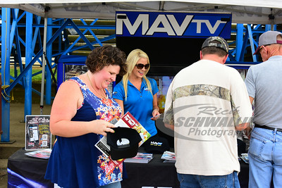 Zade Scarboro works at the MAVTV Booth