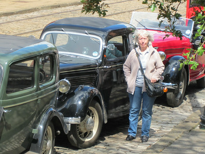 Chris with Neils two cars and Jims Eifel