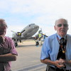 Tour organiser Peter Purdy and our guide for the day in front of the DC3