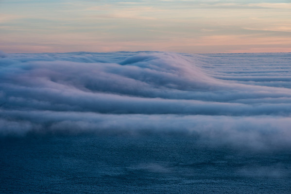 Although there was no land mass to combine with the fog, the fog was creating some pretty amazing shapes. At one point it looked like a sand-dune of fog. Willie kindly suggested I throw on the telephoto lens and get some intimate shots. It was the right decision!