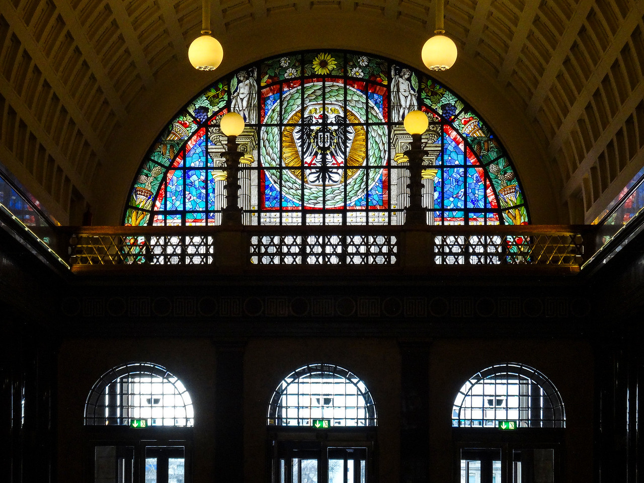 Cool stained glass inside the Casino