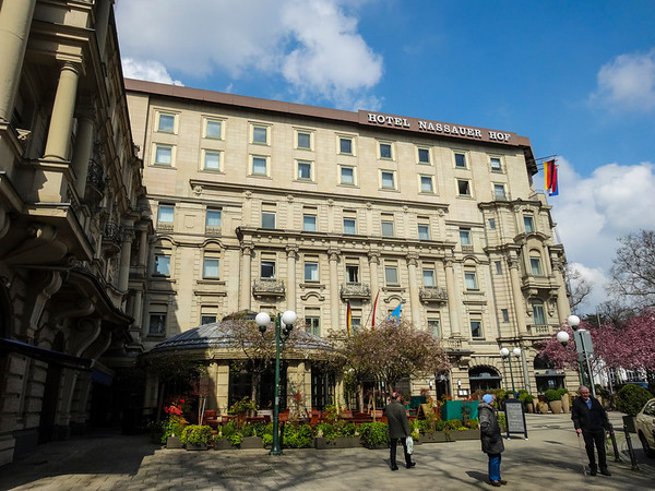 The Hotel Nassauer Hof, our home in Weisbaden