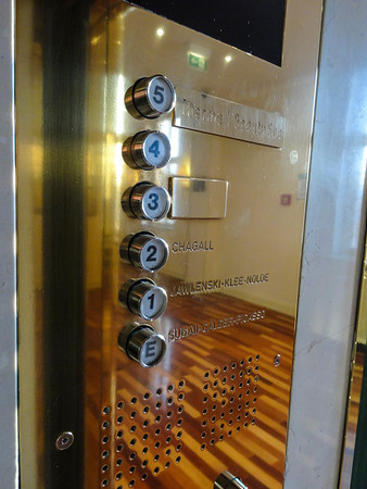The elevator in the hotel