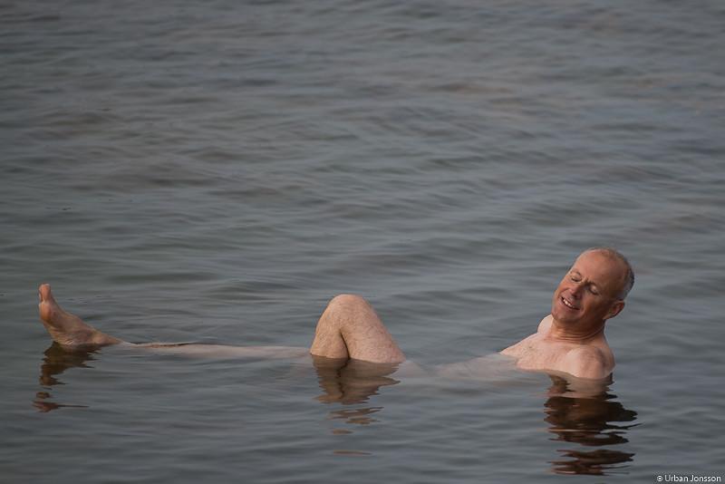 Det hindrade inte Anders från att bada.