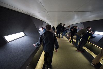 Inside the St. Louis arch