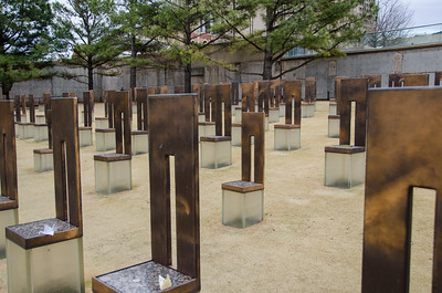 One chair for each person who died.  Small ones for the children.