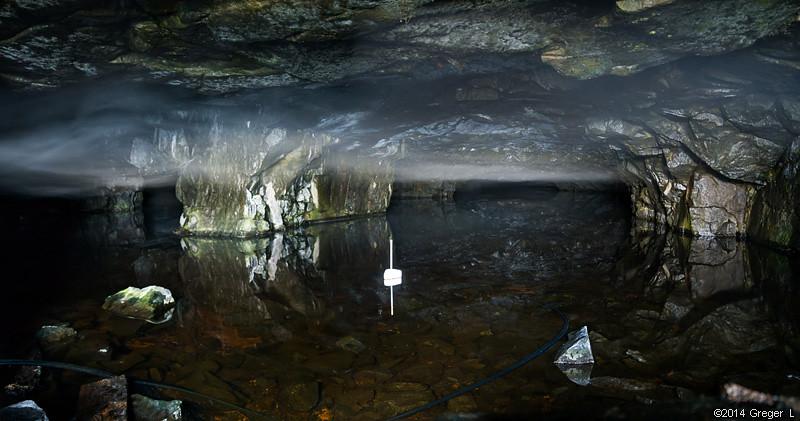 Kallt och dimmigt i gruvan