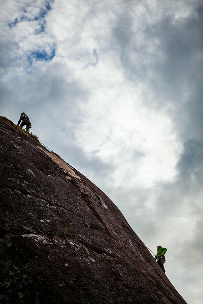 Working King Ex, a recently established route on Falcon Slab in Reed Valley