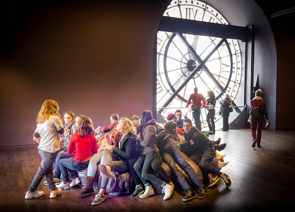 A School of Students at Musee d'Orsay - Paris, France