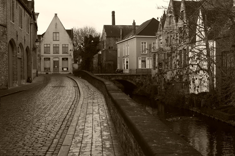 Canal and Road,  Brugges