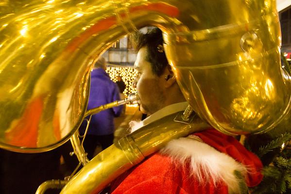 Tuba Player, Christmas Market, Ghent