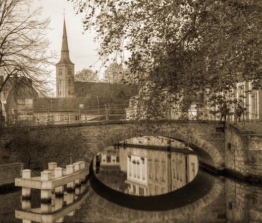 Bridge and Spire - Brugges