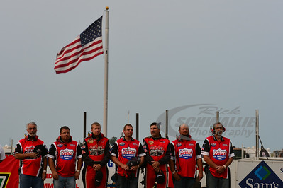 LOLMDS and Lucas Oil MLRA Officials during the National Anthem