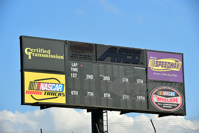 I-80 Speedway Scoreboard that was installed prior to the start of the 2014 season