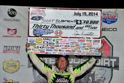 Scott Bloomquist in Victory Lane