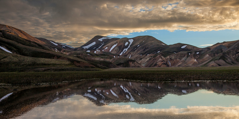 Landmannalauger reflection