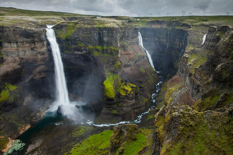 Haifoss, the amazing *DOUBLE* waterfall!