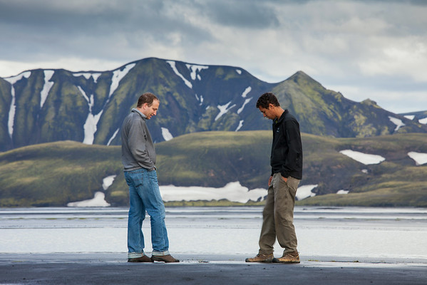 Matt and Erik enjoy Landmannalauger