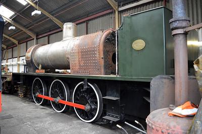 0-6-0ST 3798 'Royal Engineer' inside the workshops.