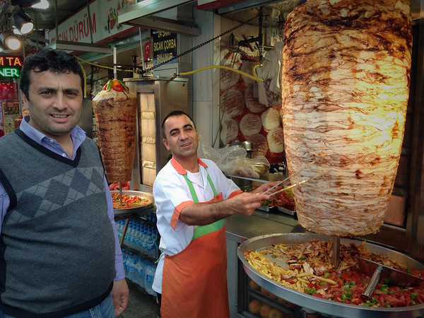 Here is something I learned in Turkey.  A column of meat set to grill vertically is doner.  This is like the gyro meat which is pretty common in the USA.  This is the largest doner I have ever seen.