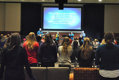 Thursday Night's worship service in Tucker Student Center.