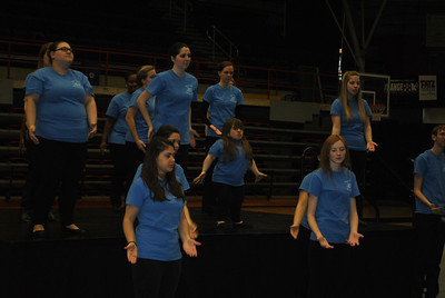 Joyful Hands performs during the Thursday morning dimensions for celebration week.