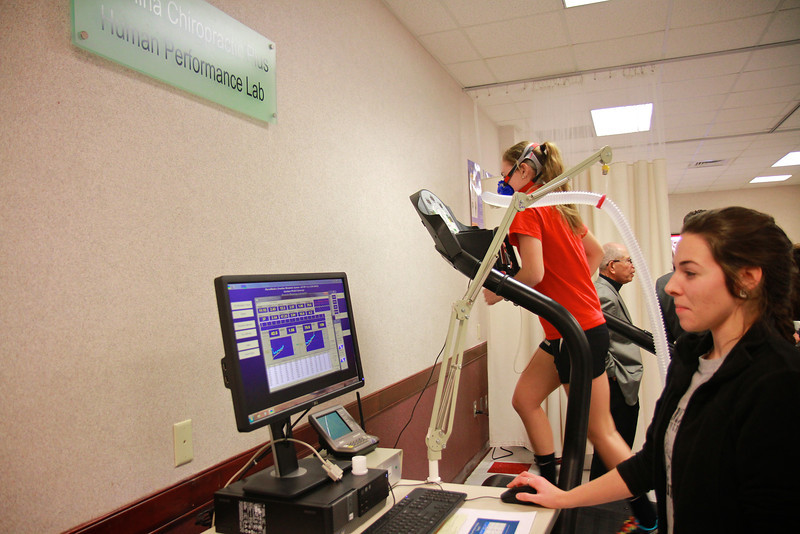 Exercise Science's Health Assessment Lab Ribbon Cutting; Made possible by Carolina Chiropractic.