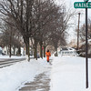 140128 3A Ent JOED VIERA/STAFF PHOTOGRAPHER Lockport, NY- A man walks through the subzero windchills on Beattie Ave on Tuesday, January 28th.