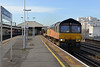 20 January 2014 :: 66849 passing through Clapham Junction working 6Y41 from Eastleigh to Hoo Junction