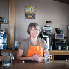 131226 Wilson Brew CoJOED VIERA/STAFF PHOTOGRAPHER Wilson, NY-Anne Daul owner of the Wilson Brew Co. stands at the counter ready to make coffee on Thursday Dec 26th, 2013. The coffee shop celebrated thier grand opening on December 15th.