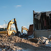 140103 Lockport Ice Arena JOED VIERA/STAFF PHOTOGRAPHER Lockport, NY-Demolition of the old Lockport ice arena takes place Friday Jan 2nd, 2013..