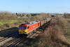 23 January 2014 :: 60100 is seen at Badgeworth with the empty steel train 6V05 from Round Oak going to Margam