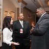140131 GOP JOED VIERA/STAFF PHOTOGRAPHER Lockport ,NY-Jennifer D. D'Andrea-Terreri and Pete Robinson Chairman City of Lockport Republican Committee  speaks with NFTA hero Darnell Barton on January 31st, 2014.