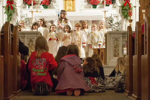 131224 Christmas Pageant JOED VIERA/STAFF PHOTOGRAPHER Lockport, NY-Children watch and perform at this years All Saints Church Christmas Eve pageant on Tuesday Dec 24th, 2013.