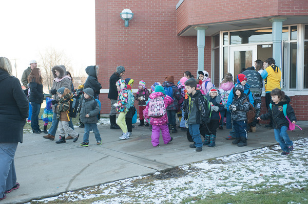 140117 pick up kindergarteners JOED VIERA/STAFF PHOTOGRAPHER Lockport,NY- Charles Upson Elementary kindergarteners are excited to be picked up from school on Friday, January 17th.