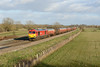23 January 2014 :: 60092 at Shrivenham in charge of 6B33, empty oil from Theale to Robeston