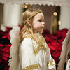 131224 Christmas Pageant JOED VIERA/STAFF PHOTOGRAPHER Lockport, NY-Victoria Mendetta(7) dressed as an angel waits to perform her part in All Saints Church's Christmas Eve pageant on Tuesday Dec 24th, 2013.