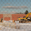 140103 Walmart supercenter JOED VIERA/STAFF PHOTOGRAPHER Lockport, NY-An excavator is parked in front of the site of the new Walmart Supercenter Friday Jan 2nd, 2013..