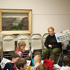 140120 Olympics JOED VIERA/STAFF PHOTOGRAPHER Lockport,NY- Education Coordinator Ann Marie Linnabery teaches children about the location of this years Winter Olympics Sochi, Russia at the History Center of Niagara on Monday, January 20th.