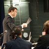 140121 BPO JOED VIERA/STAFF PHOTOGRAPHER Lockport,NY- Maestro Matthew Kraemer conducts the Buffalo Philharmonic Orchestra in front of Emmet Belknap fifth- and sixth- graders at Lockport High School on Tuesday, January 21st.