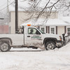 140102 Winter Enterprise JOED VIERA/STAFF PHOTOGRAPHER Lockport, NY-A truck plows snow into a snow bank Thursday Jan 2nd, 2013.