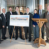 140116 Hospital JOED VIERA/STAFF PHOTOGRAPHER Lockport,NY- From left to right: Senator George Maziarz, Town of Lockport Industrial Development Agency Director David Kinyon, Lockport Town Supervisor Mark Smith, City of Lockport Mayor Michael W. Tucker, Dr Matt Zinno, Dr Andrea Buccilli, Eastern Niagara Hospital Board Chairman George Muscato and Niagara County Legislator David Godfrey pose for a photograph at the site of Eastern Niagara Hospital's Regional Surgery Center on Thursday.