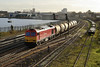 17 January 2014 :: 60015 is approaching St Denys with 6Z60 fuel oil from Fawley to Eastleigh Trsmd