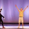 140128 Seuss JOED VIERA/STAFF PHOTOGRAPHER Lockport, NY- Lauren Miller and Jordan Fitch rehearse thier performances as Cat in the Hat and JoJo for Seussical, Jr. at the Palace Theater on Tuesday, January 28th.
